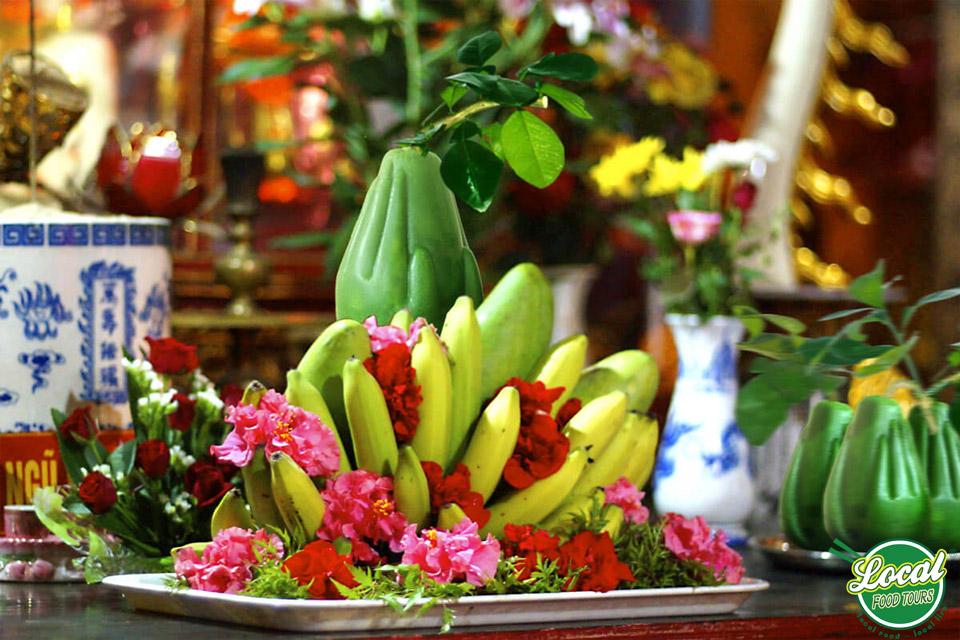 Fruit Tray In Tet Holidays Of Vietnamese